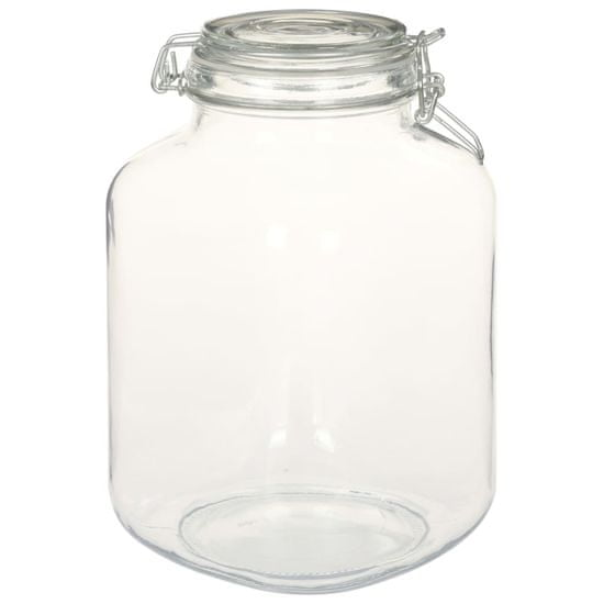 Greatstore Stekleni kozarci z zapiralom 6 kosov 3 L