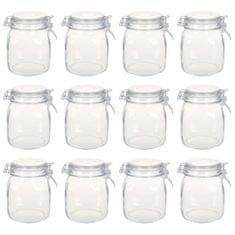 shumee Stekleni kozarci z zapiralom 12 kosov 1 L