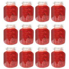 shumee Stekleni kozarci za marmelado z zapiralom 12 kosov 5 L