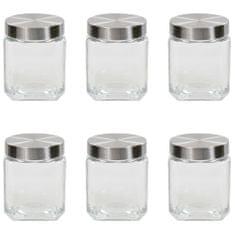shumee Kozarci za shranjevanje s srebrnim pokrovom 6 kosov 1200 ml