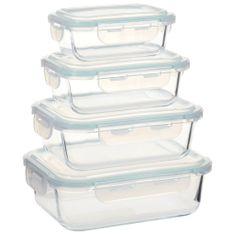shumee Steklene posode za živila 4 kosi