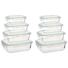 shumee Steklene posode za živila 8 kosov