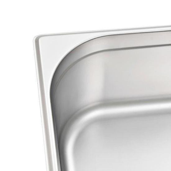 shumee Gastronomske posode 2 kosa GN 1/1 150 mm nerjaveče jeklo