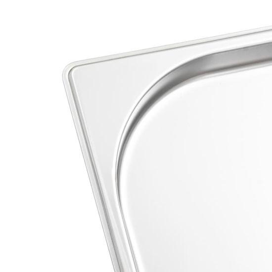 shumee Gastronomske posode 8 kosov GN 1/1 20 mm nerjaveče jeklo