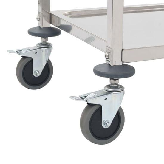 shumee Kuhinjski voziček 3-nadstropni 107x55x90 cm nerjaveče jeklo