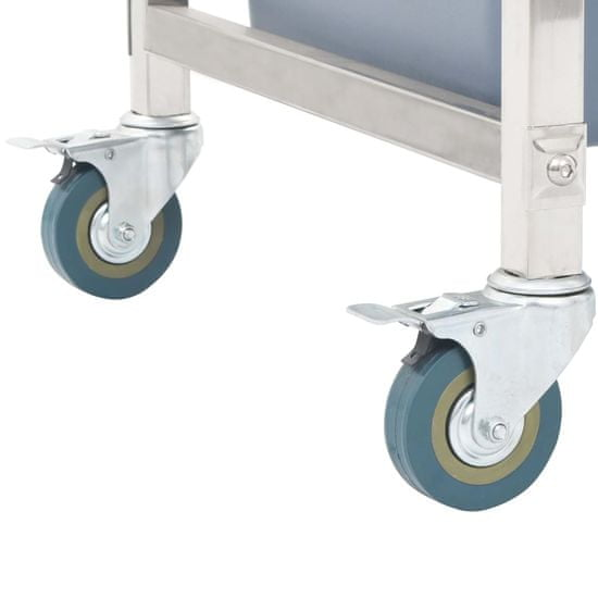 shumee Kuhinjski voziček s plastičnimi posodami 87x43,5x92 cm