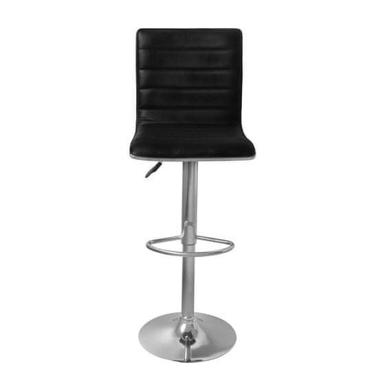 shumee Barski stolčki 2 kosa črno umetno usnje