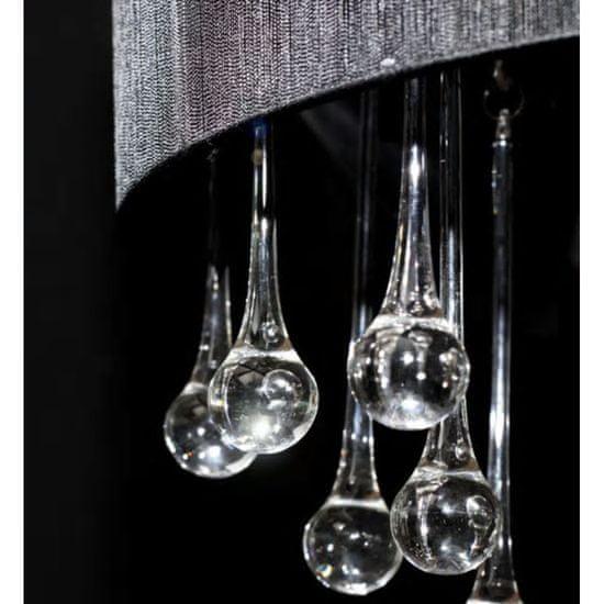 shumee Lestenec s 85 kristali črna
