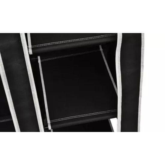 shumee Garderobna omara iz blaga 2 kosa črne barve
