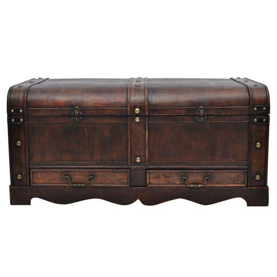 shumee Drewniany kufer, duży, brązowy