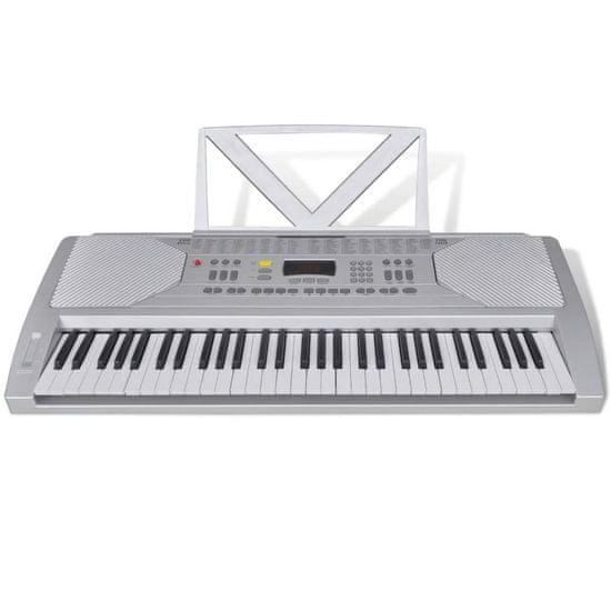 shumee Elektronický keyboard s 61 klávesami so stojanom na noty