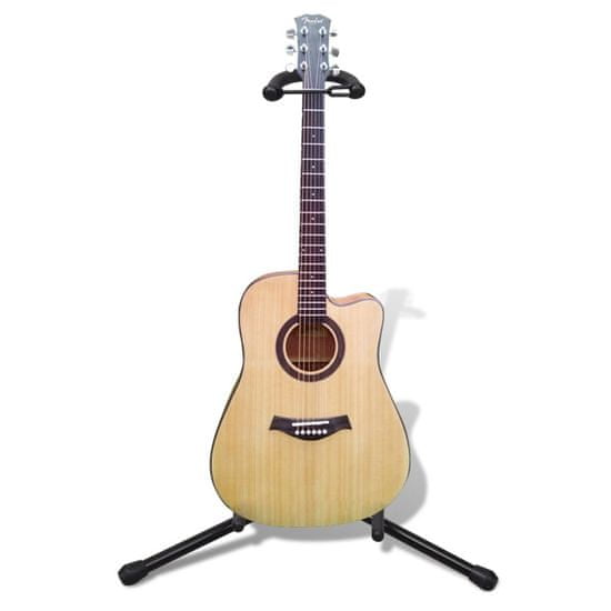 shumee Nastavitelný stojan na jednu kytaru, skládací