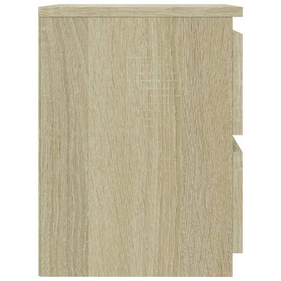 shumee Nočna omarica sonoma hrast 30x30x40 cm iverna plošča