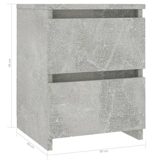 shumee Nočna omarica betonsko siva 30x30x40 cm iverna plošča