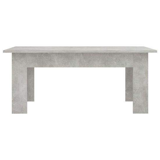 shumee Klubska mizica betonsko siva 100x60x42 cm iverna plošča
