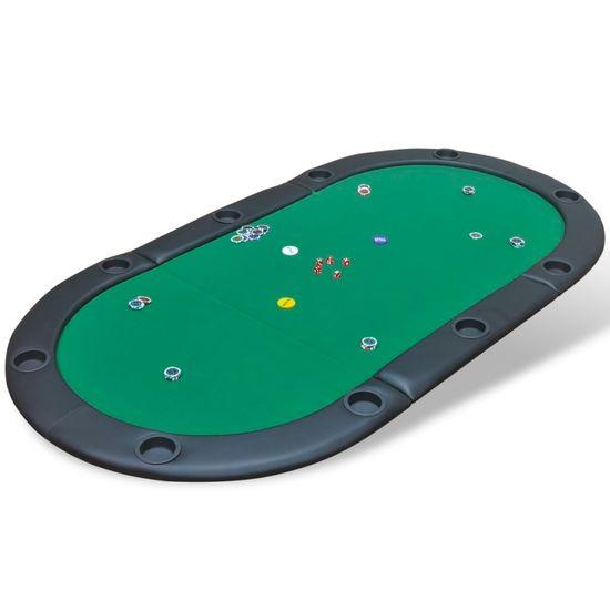 shumee Składany blat do pokera dla 10 graczy, zielony