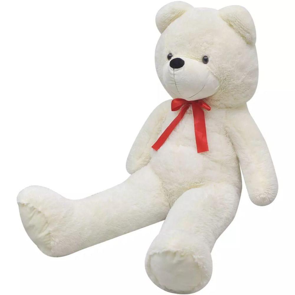 shumee Plyšový medvěd hračka bílý 170 cm