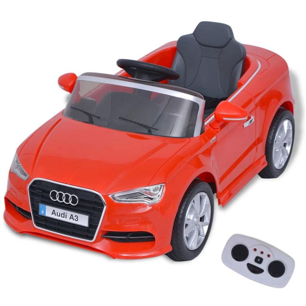 Elektrické dětské auto s dálkovým ovládáním Audi A3 červené