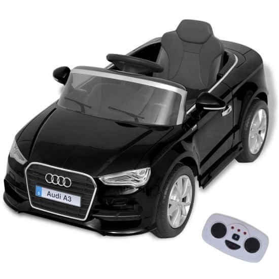 shumee Elektryczny samochód dla dzieci z pilotem Audi A3 czarne
