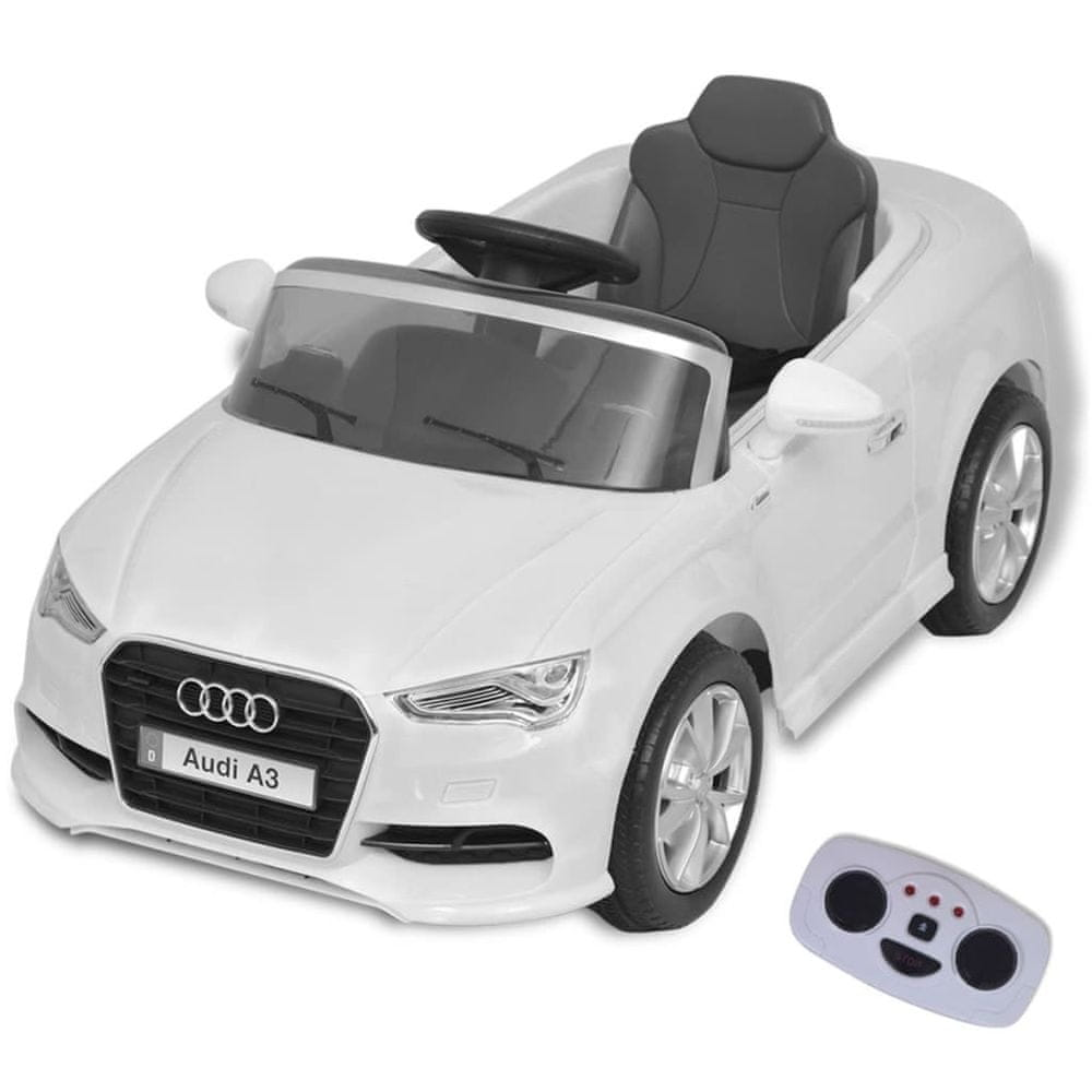Elektrické dětské auto s dálkovým ovládáním Audi A3 bílé