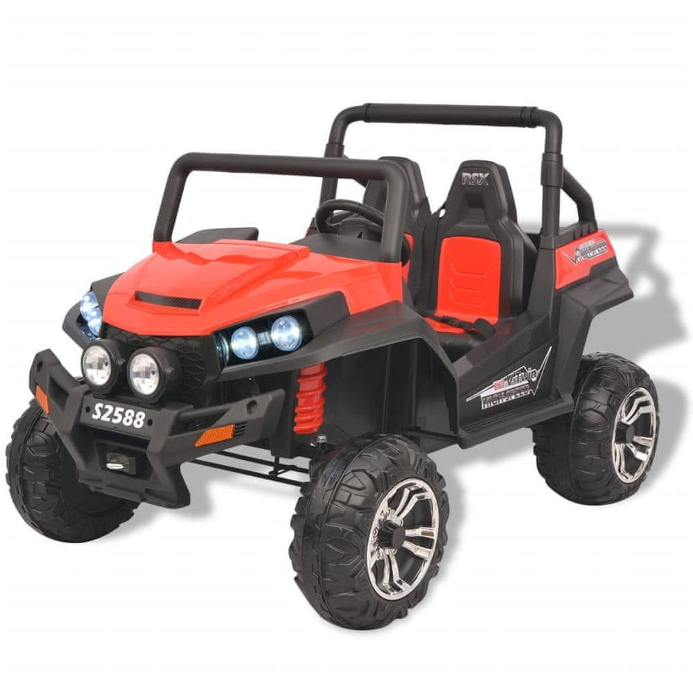 Elektrické dětské auto 2 osoby XXL červeno-černé