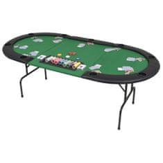 shumee Zložljiva 3-delna poker miza za 9 igralcev ovalna zelena