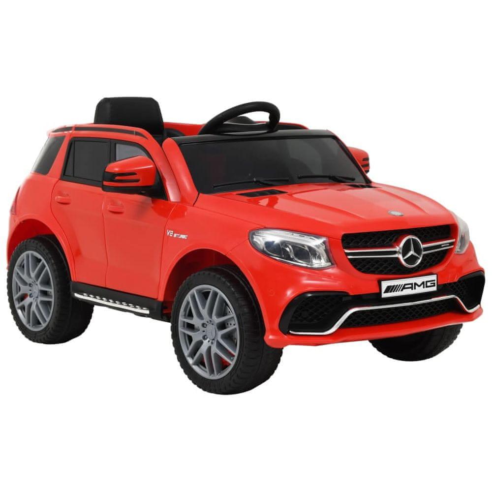 Dětské autíčko Mercedes Benz GLE63 plastové červené