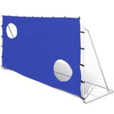 shumee Stalowa bramka do piłki nożej z panelem do celowania 240 x 92 x 150 cm