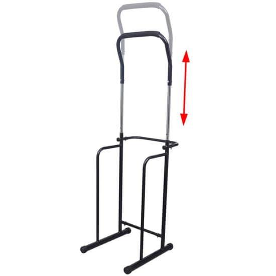shumee Prilagodljiva posatja za dvigovanje in spuščanje 175-224 cm črna