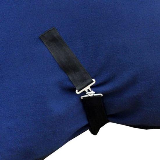 shumee Polarowa derka z zapięciami, 125 cm, niebieska