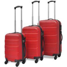 shumee 3 Walizki podróżne z twardą obudową na kółkach czerwone
