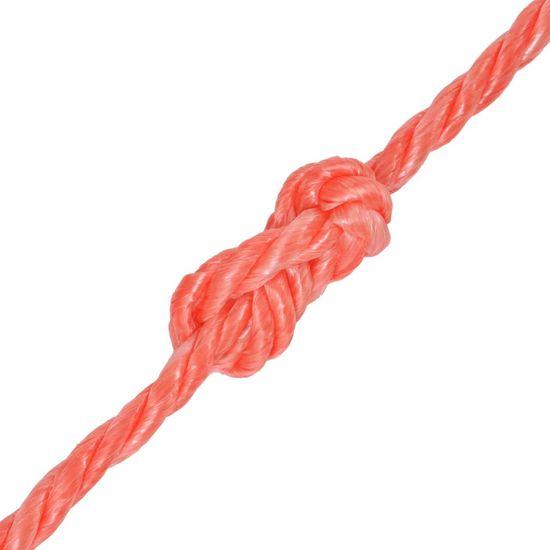 shumee Zvita vrv polipropilen 12 mm 100 m oranžna