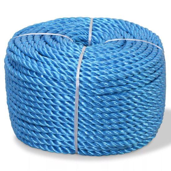 shumee Skręcana linka z polipropylenu, 6 mm, 200 m, niebieska