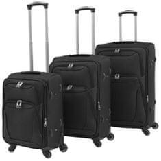 shumee 3-częściowy komplet walizek podróżnych, czarny