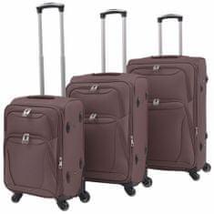shumee 3-częściowy komplet walizek podróżnych, kawowy