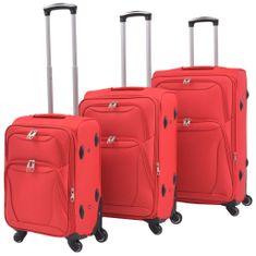 shumee 3-częściowy komplet walizek podróżnych, czerwony