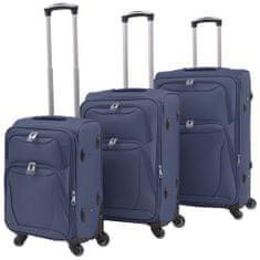 shumee 3-częściowy komplet walizek podróżnych, granatowy
