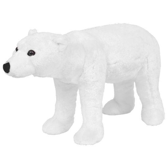 shumee Stoječi plišasti polarni medved bel XXL