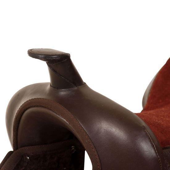 """shumee Western sedlo, uzda in oprsnica pravo usnje 15"""" rjave barve"""