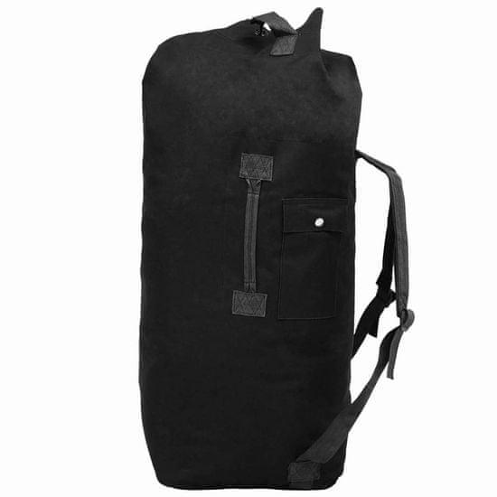 shumee Potovalna torba vojaškega stila 85 L črne barve
