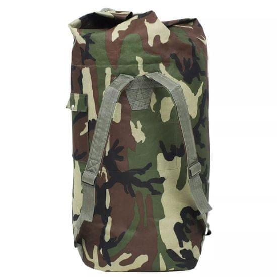 shumee Potovalna torba vojaškega stila 85 L kamuflažne barve