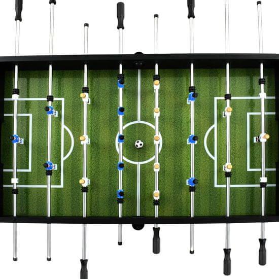 shumee Stół do gry w piłkarzyki, stal, 60 kg, 140x74,5x87,5 cm, czarny