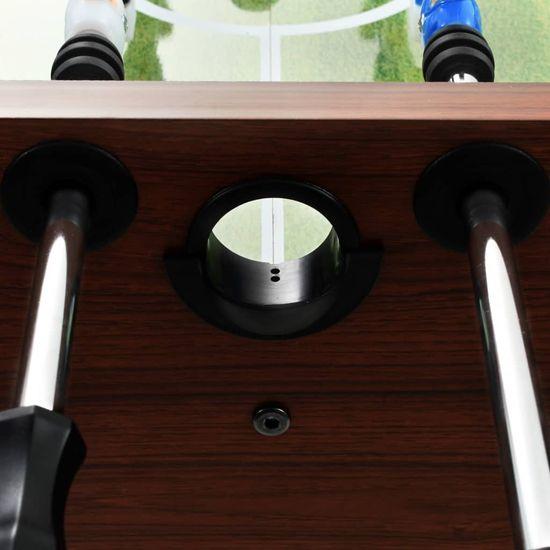 shumee Stół do gry w piłkarzyki, stal, 60 kg, 140x74,5x87,5cm, brązowy