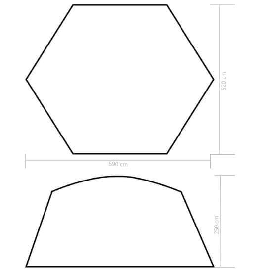 shumee Šotor za bazen iz blaga 590x520x250 cm moder