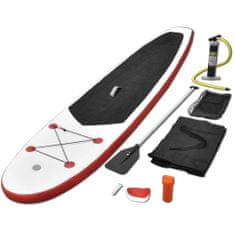 shumee Nafukovací Stand Up Paddleboard červeno-bílý