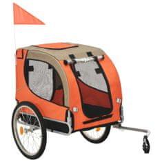 shumee Kolesarska prikolica za psa oranžna in rjava