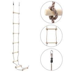 shumee Otroška lestev iz vrvi 290 cm les