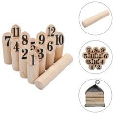 shumee Kubb s čísly herní set dřevěný