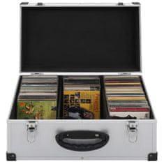 shumee Puzdro na 60 CD hliníkové ABS strieborné