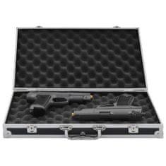 Greatstore Kufrík na zbraň hliníkový ABS čierny